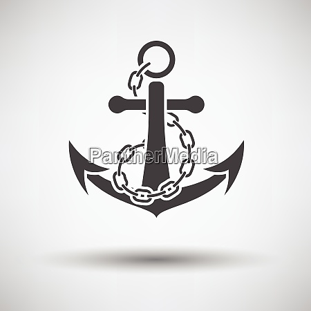 sea anchor with chain icon on