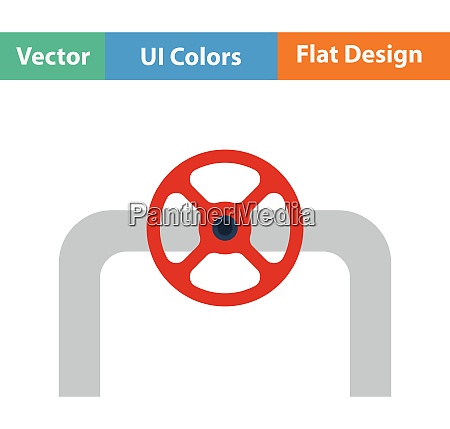 flat design icon of in
