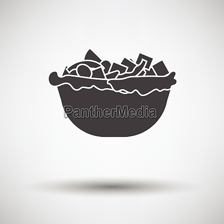 salad in plate icon salad in
