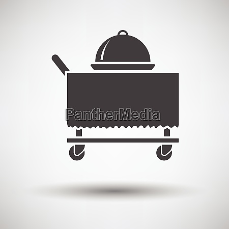 restaurant cloche on delivering cart