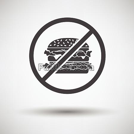 prohibited hamburger icon on gray background