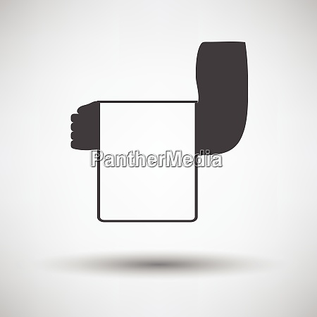 waiter hand with towel icon waiter