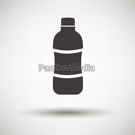 water bottle icon on gray background