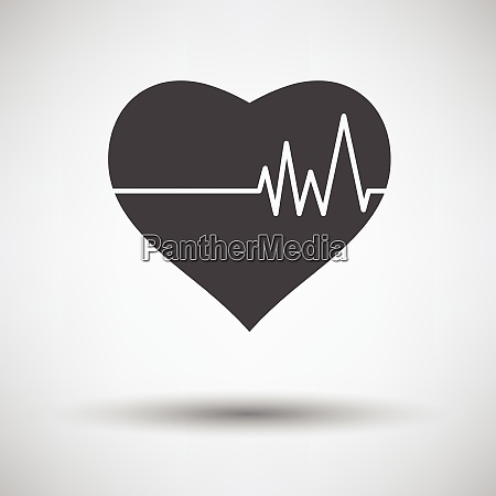 heart with cardio diagram icon on