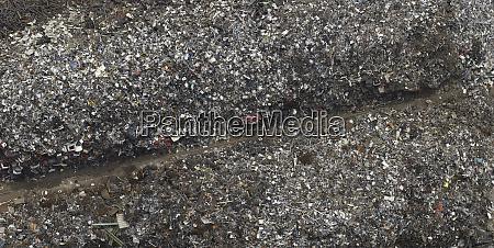 aerial view garbage dump near cologne