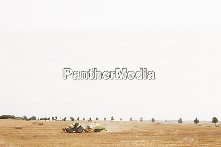 tractor in rural hay field wiendorf