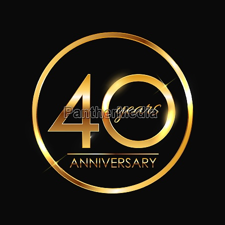 template 40 years anniversary vector illustration