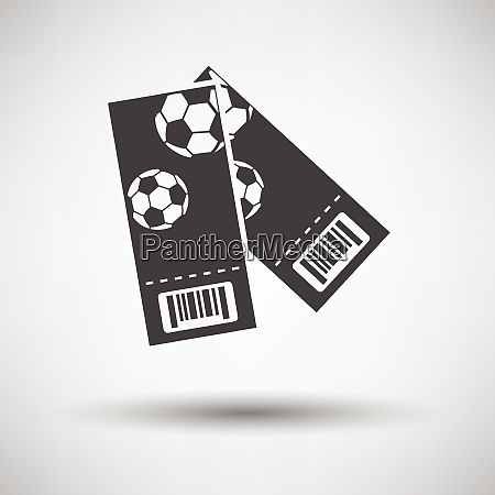 two football tickets icon on gray