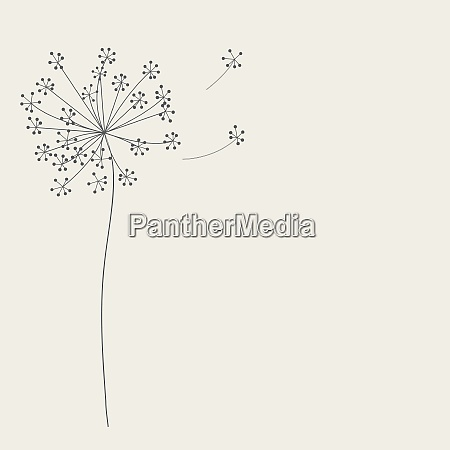 abstract background with flowers vector illustration