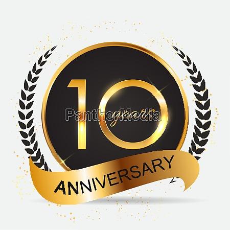 template 10 years anniversary vector illustration