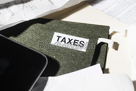 close up taxes file and finance