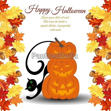 halloween greeting invitation card elegant design