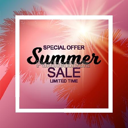 colored summer sale background vector illustration