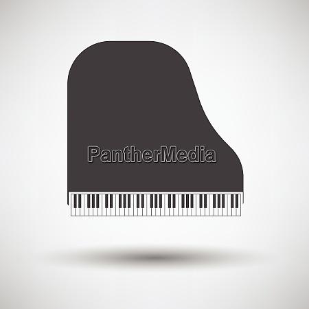 grand piano icon on gray background