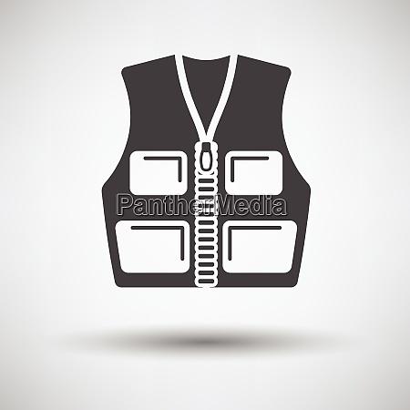 hunter vest icon on gray background