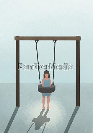 overweight girl stuck in tire swing