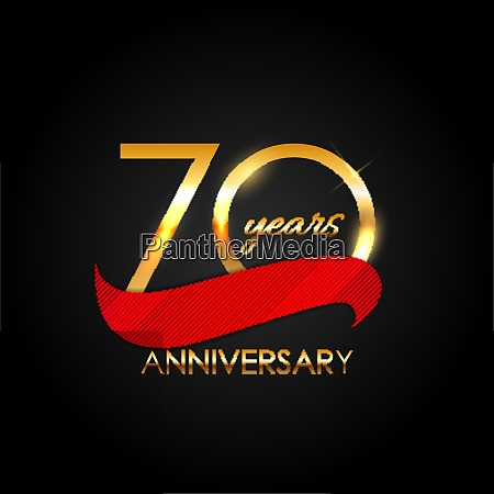 template 70 years anniversary vector illustration