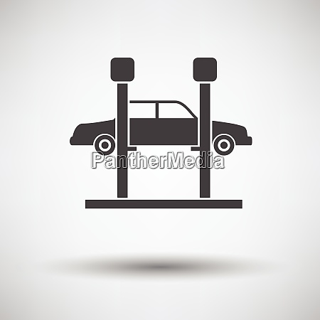 car lift icon on gray background