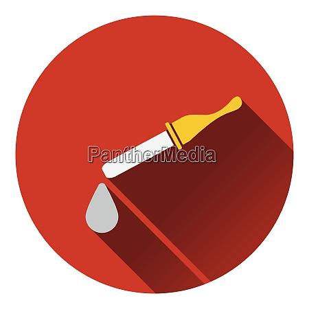 dropper icon flat color design vector