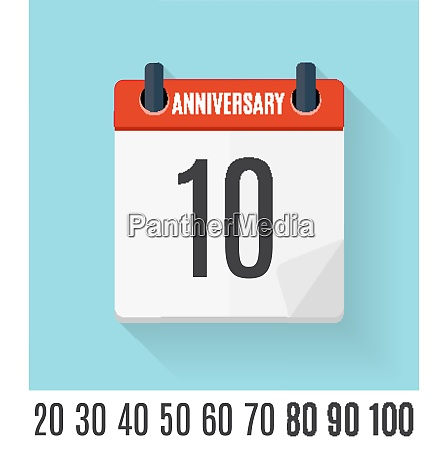 template set of anniversary celebration invitation