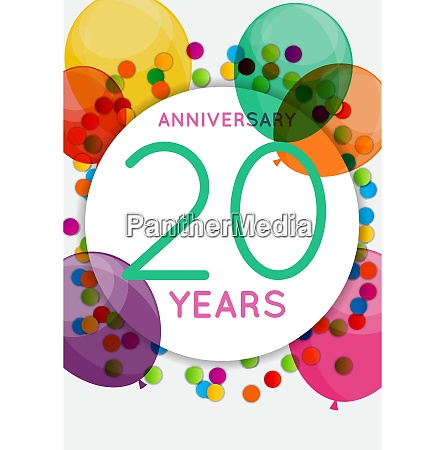 template 20 years anniversary congratulations greeting