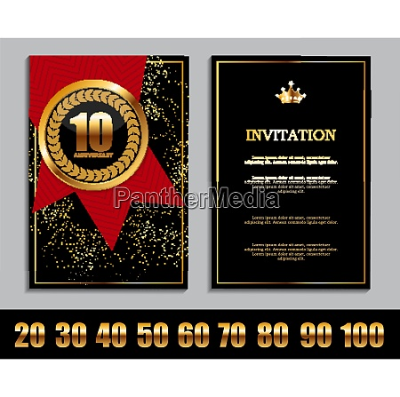 luxury template set of anniversary celebration