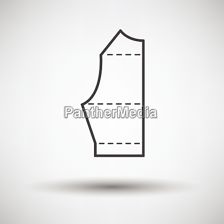 sewing pattern icon on gray background