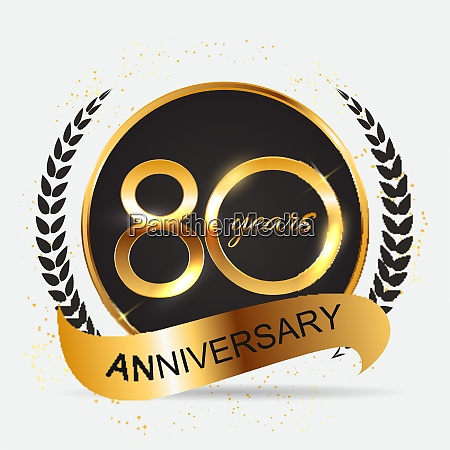 template 80 years anniversary vector illustration