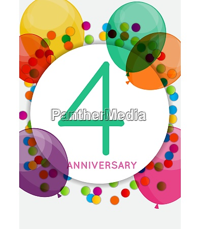 template 4 years anniversary congratulations greeting