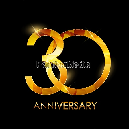template 30 years anniversary congratulations vector