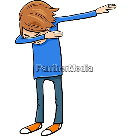 boy doing dab cartoon illustration