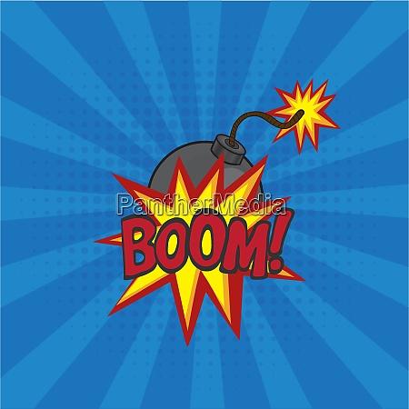 cartoon comics bomb vector illustration