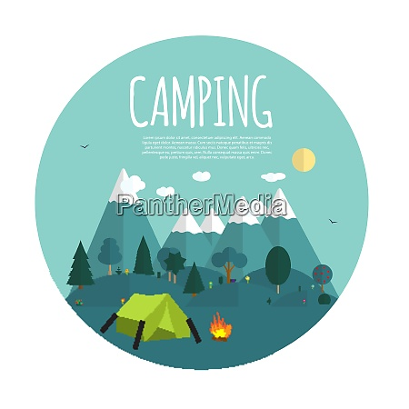 summer, camping, nature, background, in, modern - 26306189