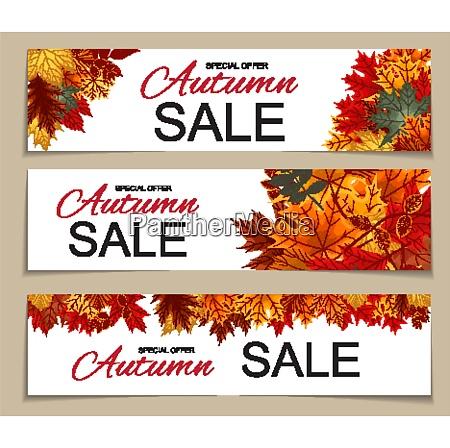 abstract vector illustration autumn sale banner