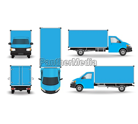 delivery van layout for presentation