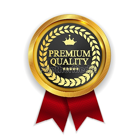 premium quality golden medal icon seal