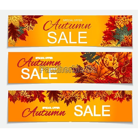 abstract vector illustration autumn sale banner