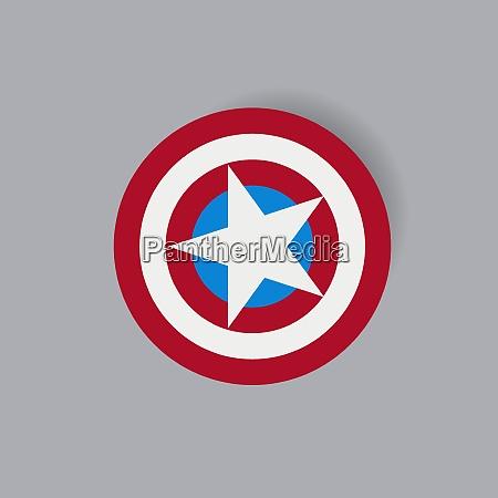 shield with a star superhero shield