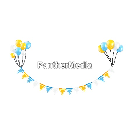 party design element with flags and