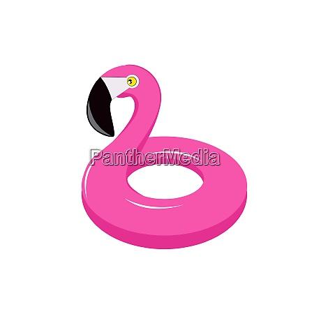 summer flamingo float isolated
