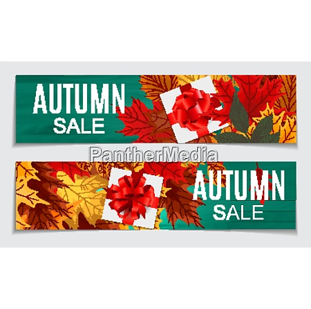 abstract vector illustration autumn sale background