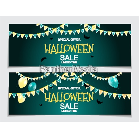 abstract vector illustration halloween sale background