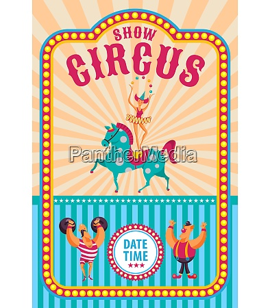 circus poster invitation to the circus