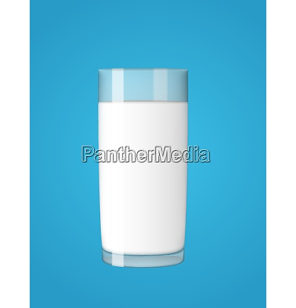 abstract milk glass on blue background