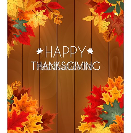 abstract vector illustration autumn happy thanksgiving