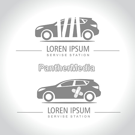 car service and repairing icons