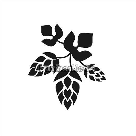 hops vector illustration silhouette sign in