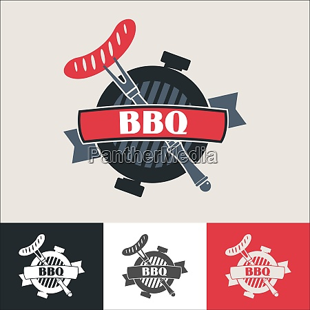 barbecue logo barbecue vector illustration of