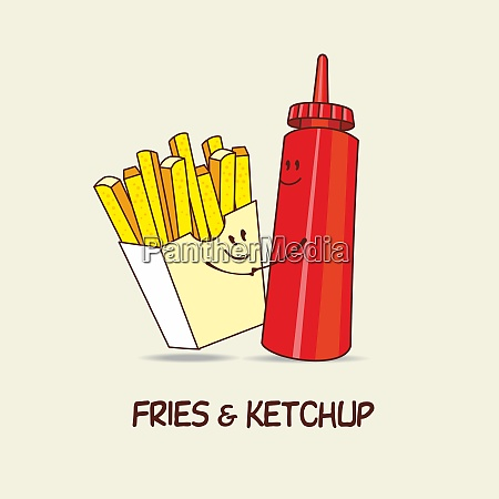 french fries and ketchup forever fries