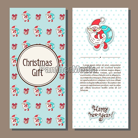 set of vector christmas card with
